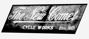 Nameplate of the New Comet Cycle Works, Princip Street, c.1914