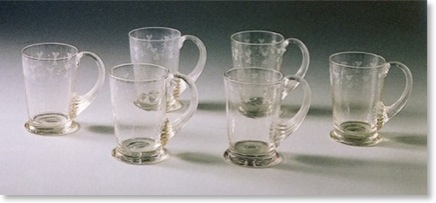 6 soda glass beakers made by Nihon Garasu Kaisha